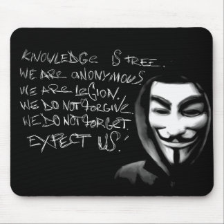Anonymous Knowledge is Free Mousepad