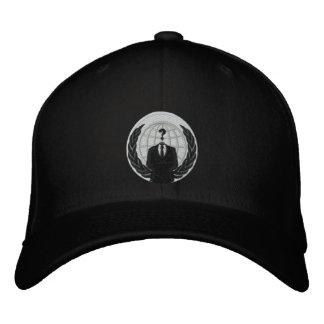 Anonymous logo embroidered baseball cap