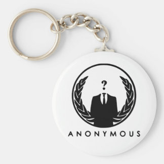 Anonymous Logo Basic Round Button Keychain