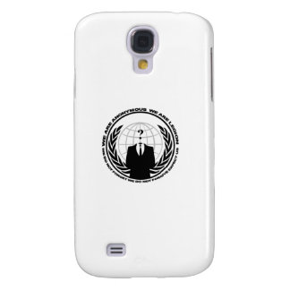 Anonymous logo w/motto galaxy s4 cover