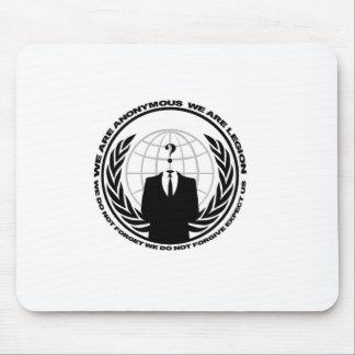 Anonymous logo w/motto mouse pad