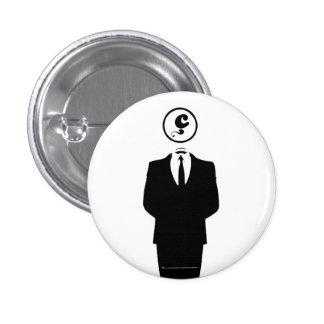 Anonymous/los Anzuelos Objetivos/Insignia/Blanco/ Pin