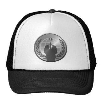 Anonymous Manufacturing Metalic Trucker Hat