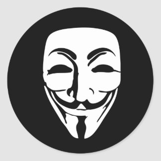 ANONYMOUS mask Classic Round Sticker