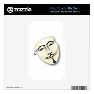 Anonymous Mask Skin For iPod Touch 4G