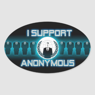 ANONYMOUS OVAL STICKER