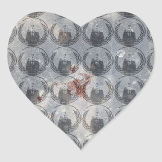 Anonymous Pattern Heart Sticker