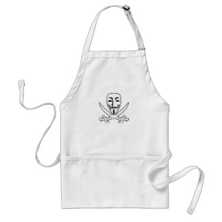 Anonymous pirate adult apron