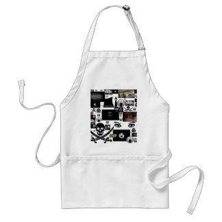 Anonymous Pirate Collage Adult Apron