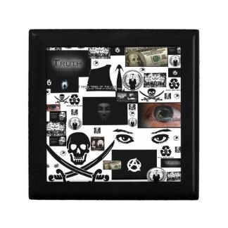 Anonymous Pirate Collage Keepsake Box