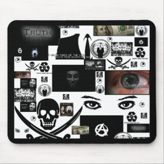 Anonymous Pirate Collage Mouse Pad