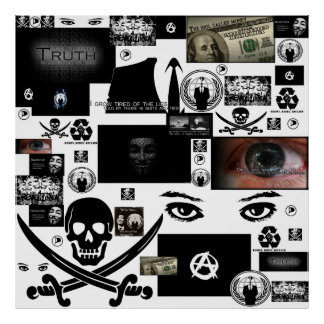 Anonymous Pirate Collage Poster