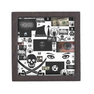 Anonymous Pirate Collage Premium Trinket Box