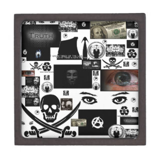 Anonymous Pirate Collage Premium Gift Box