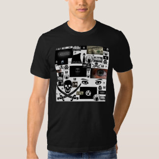 Anonymous Pirate Collage Tee Shirt