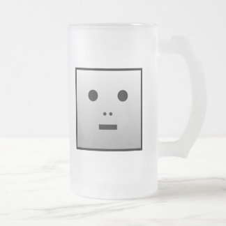 Anonymous Robot - Customized Frosted Glass Beer Mug