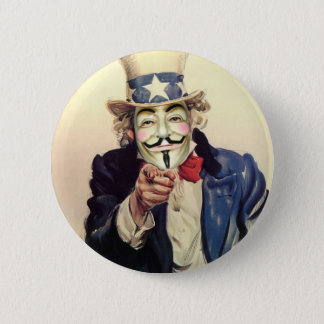 Anonymous Sam Pinback Button