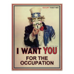 Anonymous Sam Wants You For The Occupation Posters