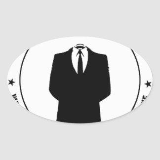 anonymous seal oval sticker