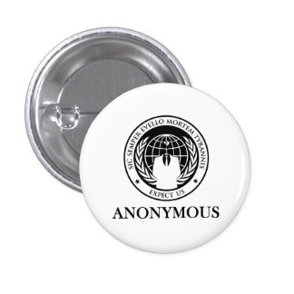 Anonymous Sic Semper Evello Mortem Tyrannis 1 Inch Round Button