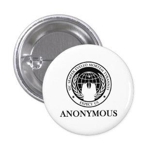 Anonymous Sic Semper Evello Mortem Tyrannis Pinback Button