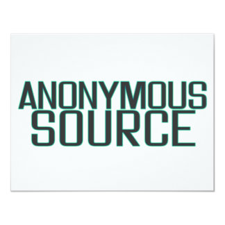 Anonymous Source Card