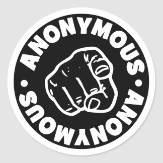 Anonymous Round Sticker