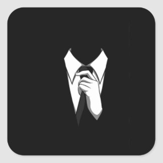 Anonymous Suit and Tie Square Sticker