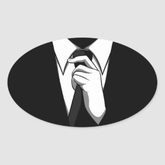 Anonymous suit oval sticker