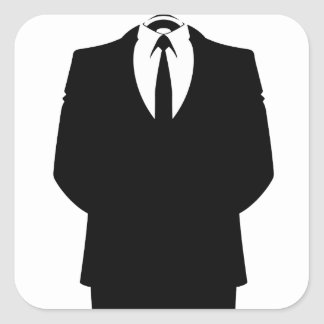 Anonymous Suit Stickers