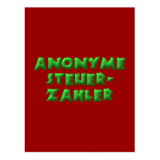 Anonymous taxpayers post card