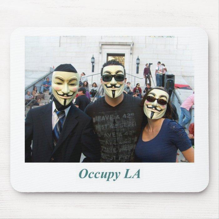 Anonymous Trio Day7 Occupy LA Mouse Pad