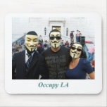 Anonymous Trio Day7 Occupy LA Mouse Pads