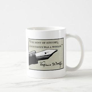 Anonymous Was a Woman Coffee Mug