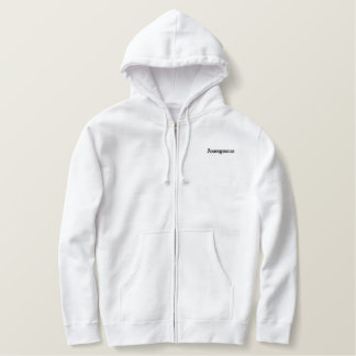 Anonymous White Zip Hoodie (front/back)