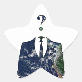 Anonymous Worldwide Star Sticker
