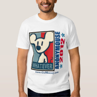 Anonymouse 2012 - If Nominated T Shirt