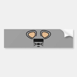 anonymouse. etiqueta de parachoque