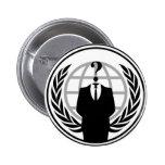 Anonymus Logo Anstecknadelbuttons