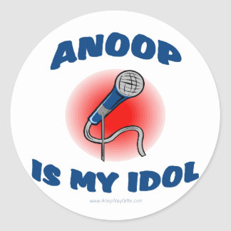 Anoop Is My Idol Round Stickers