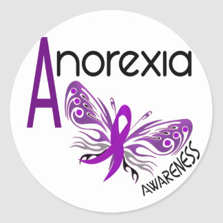ANOREXIA BUTTERFLY 3.1 CLASSIC ROUND STICKER