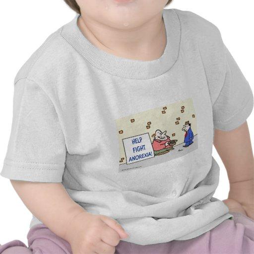 Anorexia de la lucha de la ayuda camiseta