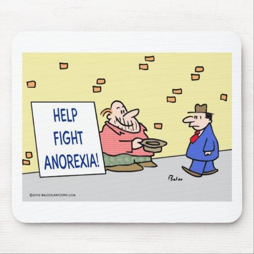 Anorexia de la lucha de la ayuda mousepads