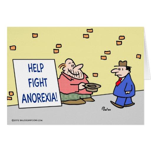 Anorexia de la lucha de la ayuda tarjeta de felicitación