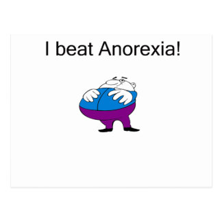 Anorexia fat post card