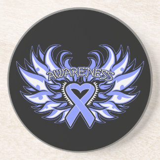 Anorexia Nervosa Awareness Heart Wings Beverage Coasters