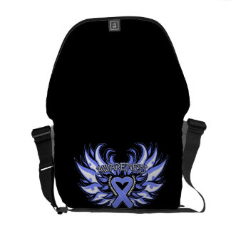 Anorexia Nervosa Awareness Heart Wings Commuter Bag