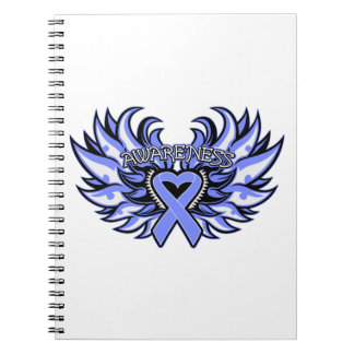 Anorexia Nervosa Awareness Heart Wings Spiral Note Book