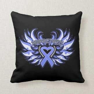 Anorexia Nervosa Awareness Heart Wings Pillows