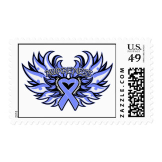 Anorexia Nervosa Awareness Heart Wings Stamp